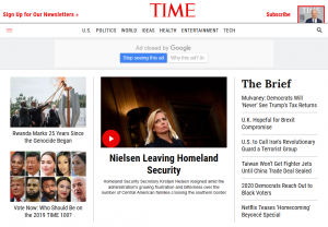 Screenshot Time Magazine im Web