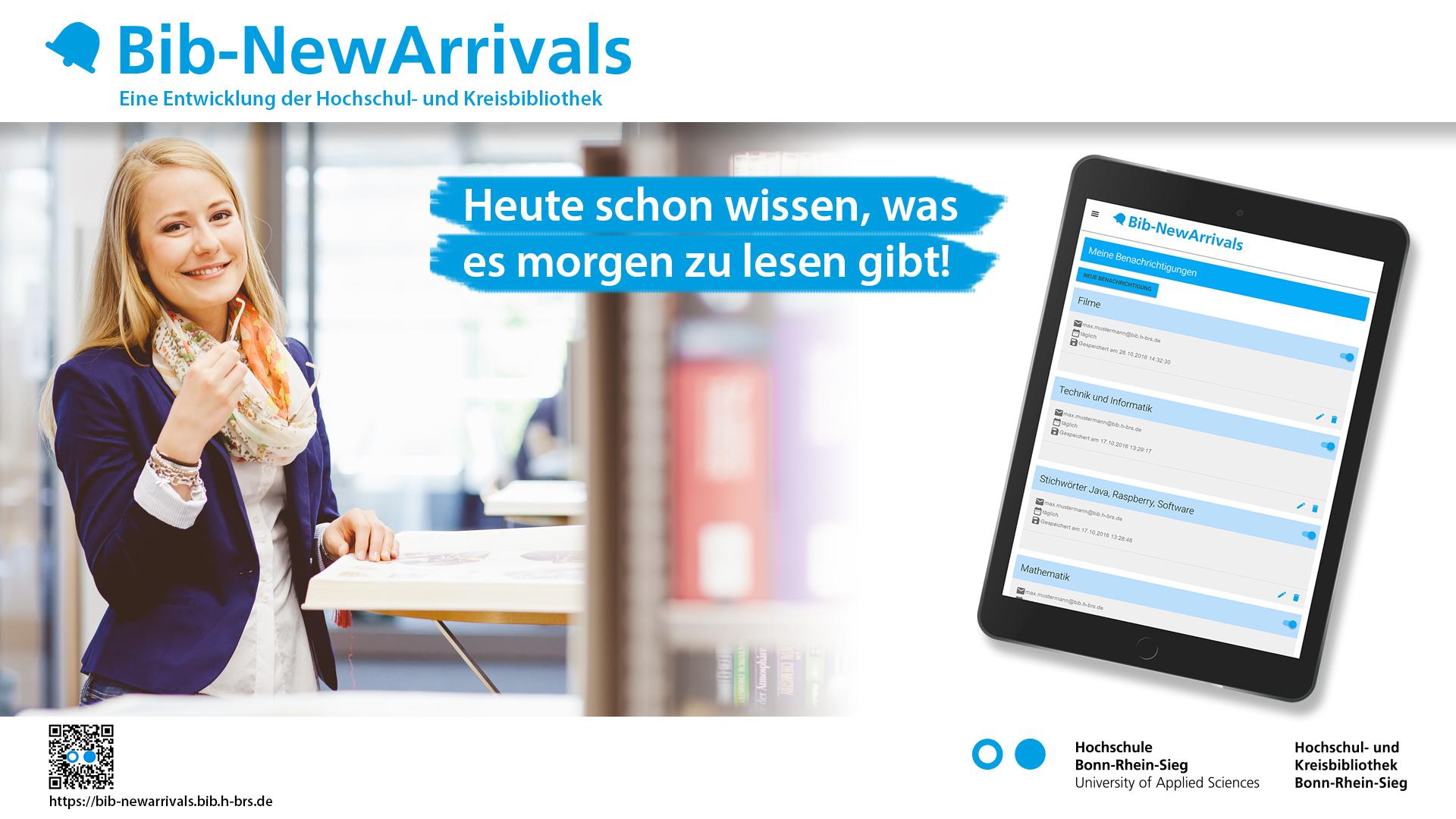 Bib-NewArrivals - Informationsdienst über Neuerwerbungen in der Bibliothek der H-BRS