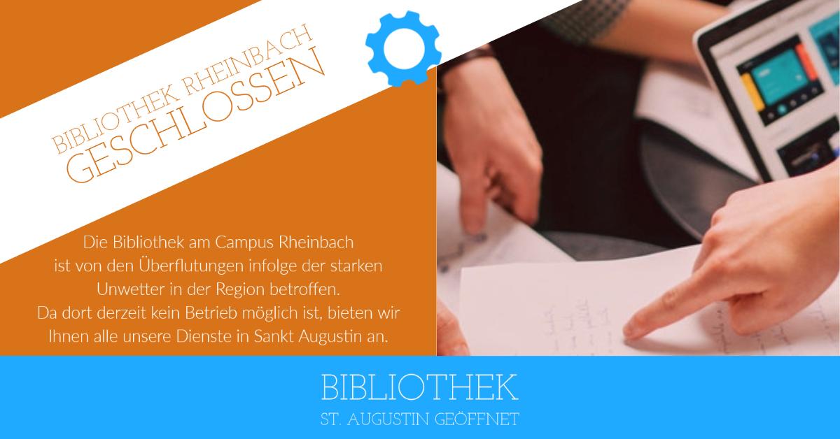 Bibliothek Rheinbach geschlossen